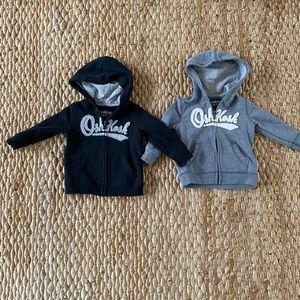 2 Oshkosh Zip Up Hoodies